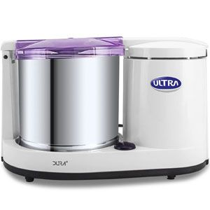 Ultra Dura+ 110V 1.25 Ltr Table Top Wet Grinder (White)