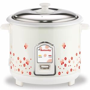 Butterfly Blossom 1.8 Ltrs Electric Cooker (White)