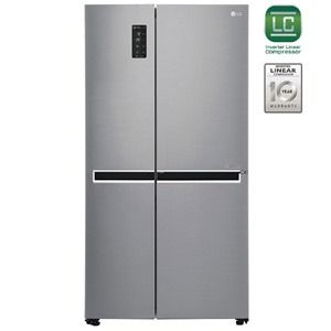 LG GC-B247SLUV 687Ltr  Frost Free Side by Side Refrigerator (Platinum Silver)