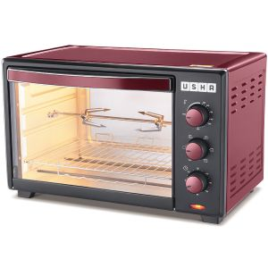 Usha OTGW 3635RC 35 Ltrs Oven Toaster Grill (Red)