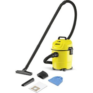 Karcher WD 1 Canister Vacuum Cleaner (Yellow)