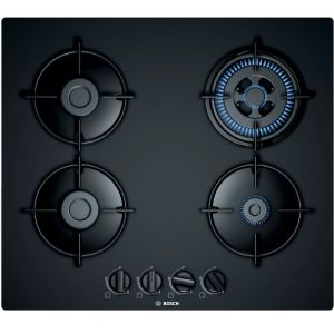 Bosch PNH6B6B10I 4 Burner Glass Top Built-in Hob (Black)