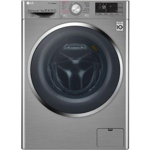 LG F4J8VHP2SD 9/5  Fully Automatic Front Load Washer Dryer (Silver)