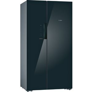 Bosch KAN92LB35I 655 Ltrs Frost Free Side by Side Refrigerator (Black Glass)