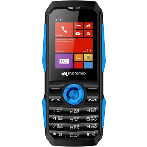 Micromax X516 Feature Phone (Black Blue)