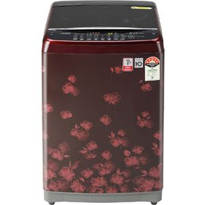LG T70SJDR1Z 7.0  Fully Automatic Top Load Washing Machine (Floral Red)