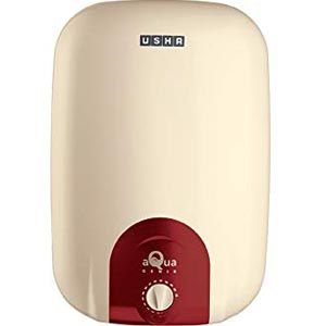 Usha Aqua Genie 10 Ltrs Storage Vertical Water Heater (Ivory Wine)