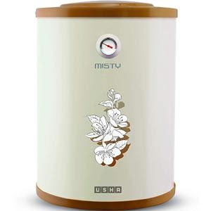 Usha Misty 10 Ltrs Storage Vertical Water Heater (Ivory Cherry Blossom)