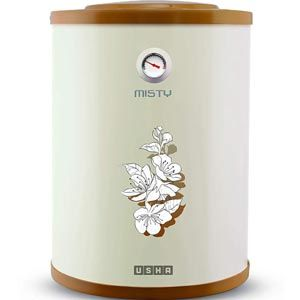 Usha Misty 15 Ltrs Storage Vertical Water Heater (Ivory Cherry Blossom)