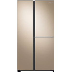 Samsung RS73R5561F8/TL 689 Ltrs Frost Free Side by Side Refrigerator (Gentle Gold)