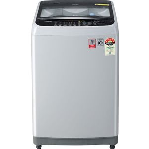 LG T70SNSF3Z 7 Kg Fully Automatic Top Load Washing Machine (Middle Free Silver)