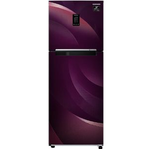 Samsung RT34T46324R 314 Ltrs 2 Star Frost Free Double Door Refrigerator (Rythmic Twirl Red)