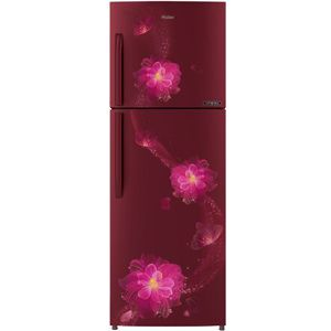 Haier HRF-2784CRB-E 258 Ltrs 3 Star Frost Free Double Door Refrigerator (Red Blossom)