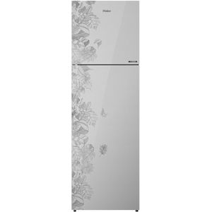 Haier HRF-2984PFG-E 278 Ltrs 3 Star Frost Free Double Door Refrigerator (Floral Mirror Glass)