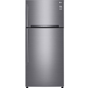 LG GN-H602HLHQ 516 Ltrs 3 Star Frost Free Double Door Refrigerator (Shiny Steel)