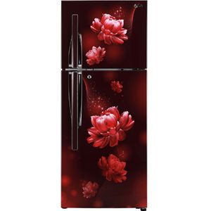 LG GL-T292RSC3 260 Ltrs 3 Star Frost Free Double Door Refrigerator (Scarlet Charm)