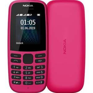 Nokia 105 Feature Phone (Pink)