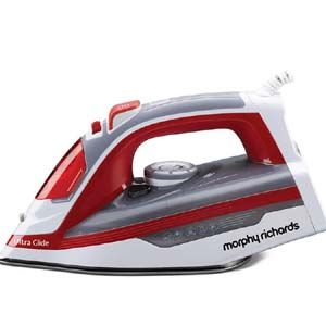 Morphy Richards Ultra Glide 1600 W Steam Iron (White with Red)