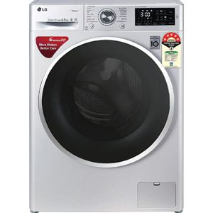 LG FHT1265ZNL 6.5 Kg Fully Automatic Front Load Washing Machine (Luxury Silver)