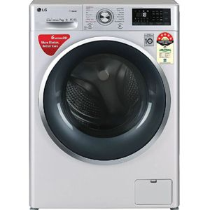 LG FHT1207ZWL 7 Kg Fully Automatic Front Load Washing Machine (Silver )
