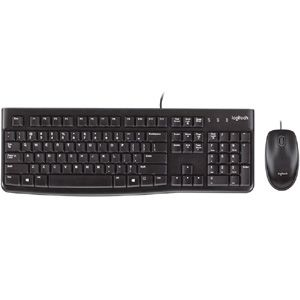 Logitech MK120 Wired Mouse & Keyboard Combo (Black)
