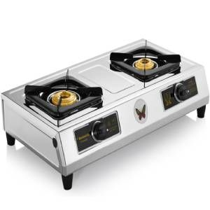 Butterfly Friendly 2 Burner Stainless Steel Gas Stove (Steel)