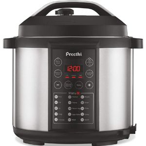 Preethi Touch 6 Ltrs Electric Pressure Cooker (Black)